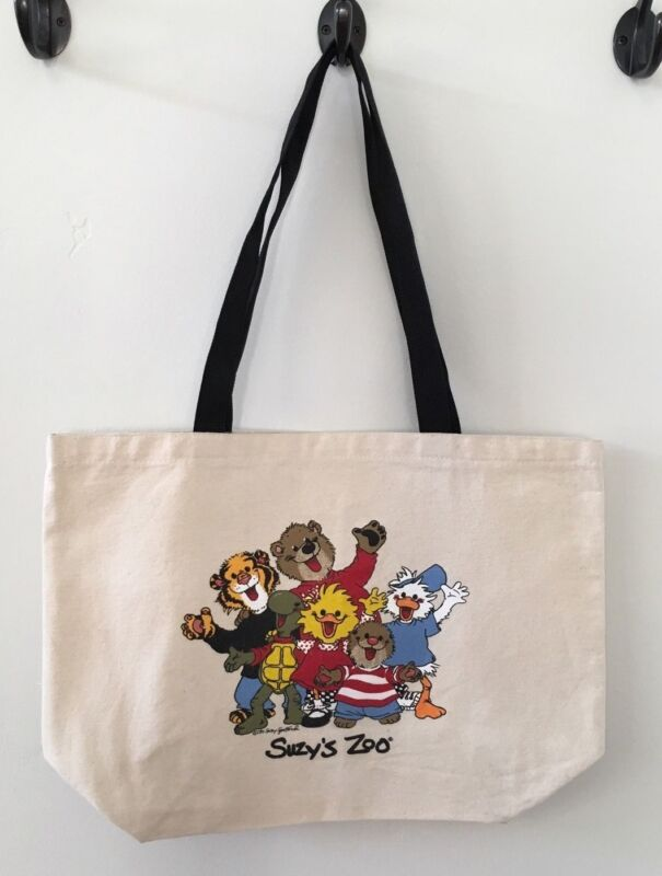 Vintage Suzy's Zoo Tote Canvas Bag 1997, Suzy Ducken, Jack Quaker, Corky, Ollie