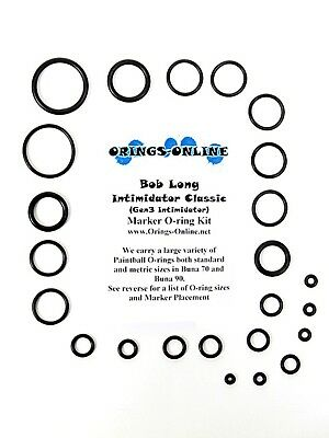Bob Long Intimidator Classic Paintball O-ring Oring Kit x 2 rebuilds / kits