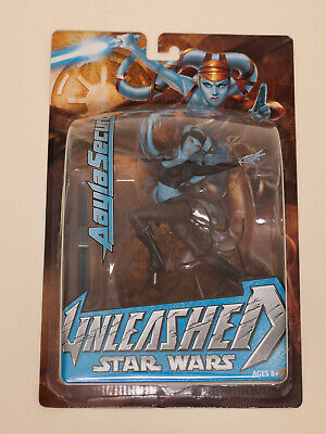 Star Wars Unleashed Aayla Secura Figure Hasbro 2004 Sealed