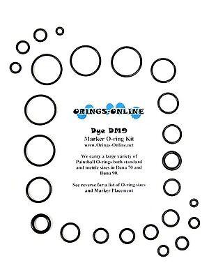 DYE DM9 Paintball Marker O-ring Oring Kit x 4 rebuilds / kits (Dm9 Paintball)