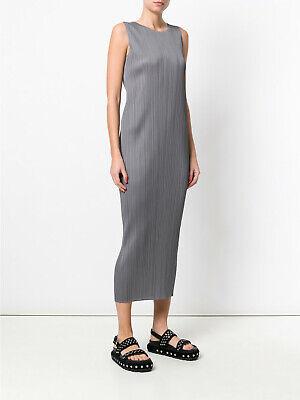 PLEATS PLEASE Issey Miyake Grey Tank Long Dress, JP 3