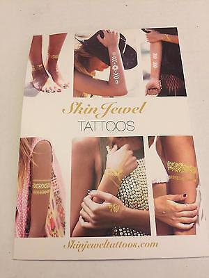 Jewel Tattoos (EMPIRE Skin Jewel Tattoos Silver Gold Metallic New Years Eve 2 sheets PopSugar N)