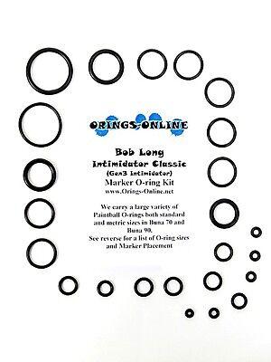 Bob Long Intimidator Classic Paintball O-ring Oring Kit x 4 rebuilds / kits