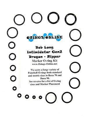 Bob Long Intimidator Gen2 Paintball O-ring Oring Kit x 2 rebuilds / kits