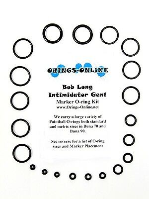 Bob Long Intimidator Gen1 Paintball O-ring Oring Kit x 2 rebuilds / kits
