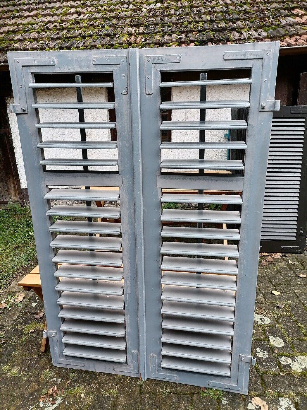 1 Paar Fensterladen - Holz - gebraucht - Höhe 159 cm - Breite 52 cm