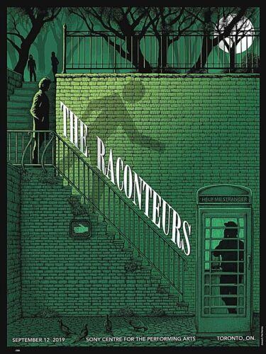 Raconteurs Toronto 2019 Screen Print Poster S/N #/280 Jack White Stripes INSTOCK