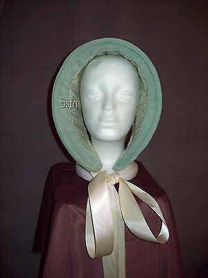 Civil War reenactor ladies winter bonnet hood NEW 100% cotton velvet