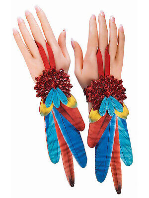 Non Feathered Parrot Womens Adult Animal Fantasy Costume Wristlets