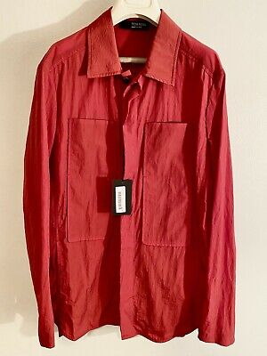 NWT Tom Rebl $410 Prada Tech Fabric Military Shirt