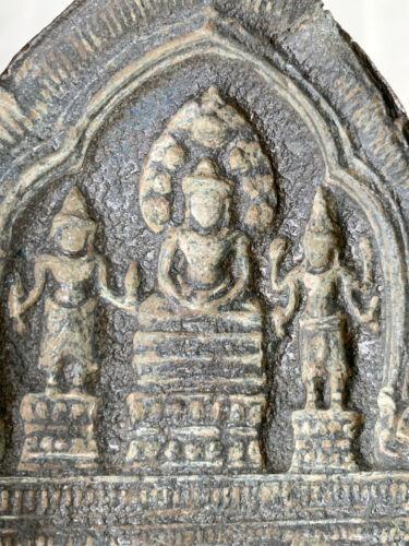 Khmer bronze Buddha naga triad mold for terracotta votive plaques 12th-13th c