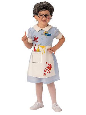 Lunch Lady Girls Child Old Cafeteria Worker Funny Halloween Costume