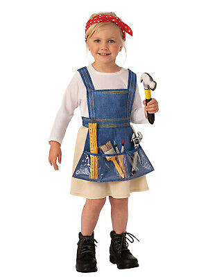 Ms Fixit Girls Child Handy Woman Cute Construction Halloween Costume
