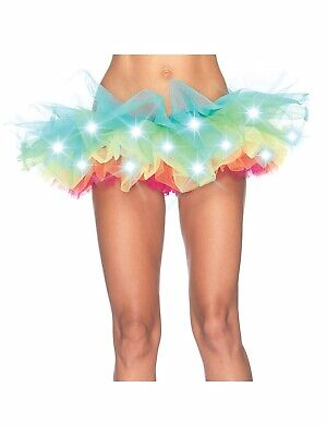 Light Up Rainbow Tutu Womens Adult Petticoat Ballet Dance Costume - Tutu Lightup Kostüm