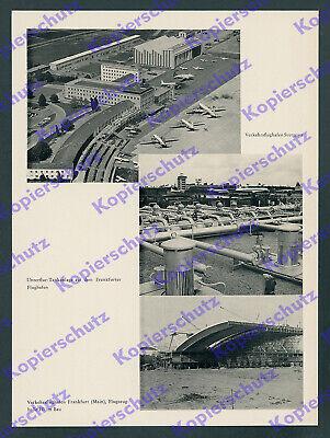 Luftfahrt Flughäfen Stuttgart Frankfurt III Flugsicherung Lufthansa Hamburg 1959