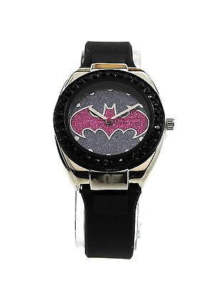 Batman Batgirl Pink Emblem Strap Watch (Bgl9009) Woman Womens Superhero Ladies - Batgirl Emblem