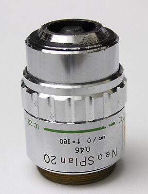 Olympus Microscope Objective Neosplan 20 Nic 0.40 0 F180 20x Neo Splan Ic Ic2