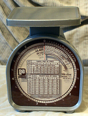 Vintage Working Pelouze Model Y-5 Postal Scale