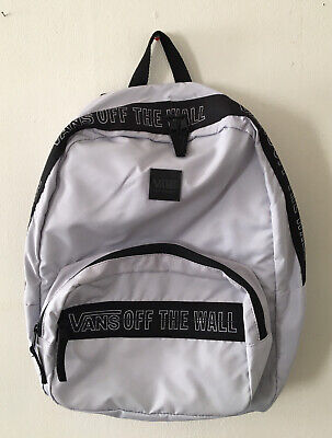 VANS Off The Wall Backpack Light Grey Sports Backpack -School Bag -NEW Unisex