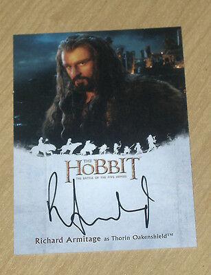 2016 Cryptozoic Hobbit Battle 5 Five Armies on-card autograph Richard Armitage