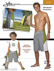 Jalie Board Shorts Sewing Pattern 2678 in 27 Sizes Men's & Boys
