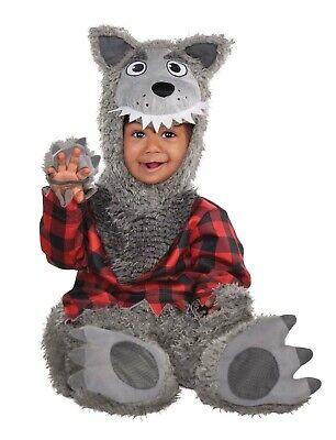Cute Baby Animal Halloween Costumes (Baby Wolf Boys Infant Cute Fairytale Animal Halloween)