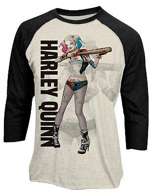 Harley Quinn 'Poster Girl' 3/4 Length Sleeve Raglan Baseball Shirt - OFFICIAL!