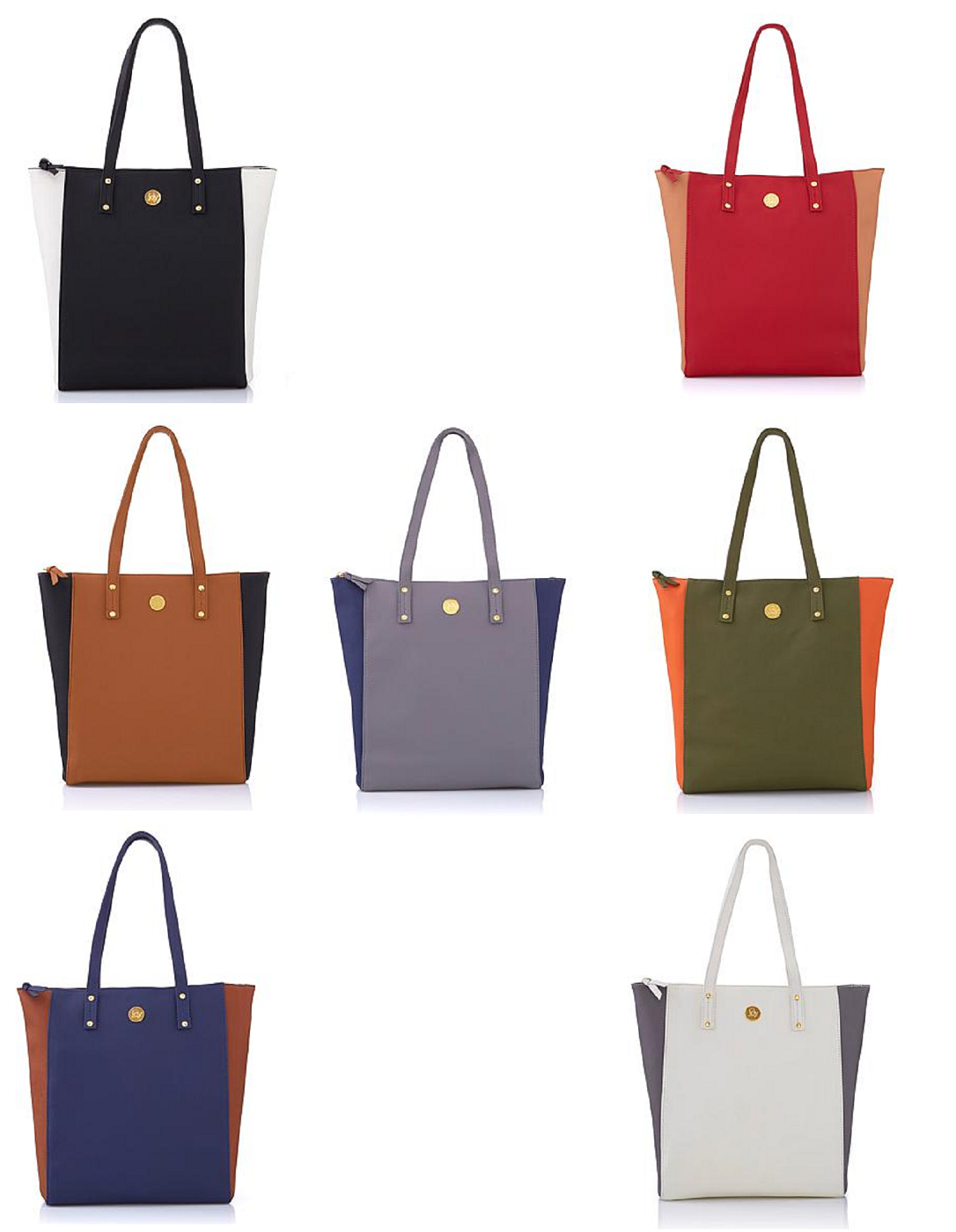 handbags rich leather colorblock tote with power