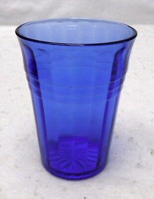 (HAZEL ATLAS Depression Glass MODERNTONE COBALT BLUE 9-oz Tumbler - 4-1/8
