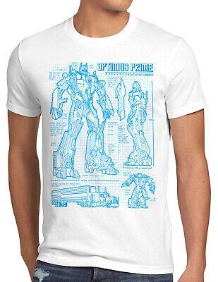 Optimus Prime Herren T-Shirt blaupause autobot decepticon megatron blu-ray dvd ()