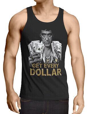 Scarface Tony Dollar Montana Tank Top Herren pablo escobar al pacino gangster us