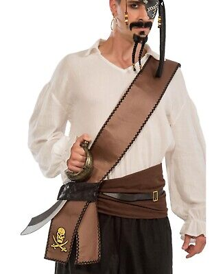 Seeräuber Erwachsene Piratenschwert Halterung Kostüm - Erwachsene Piraten Schwert Schärpe