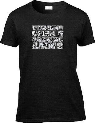 Wearing Camo Packing Ammo Hunting Outdoors Deer Blind Stand Funny Womens Tee