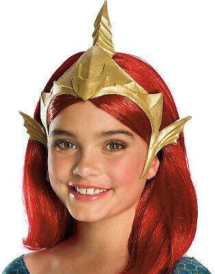 Mera Aquaman Dc Superhero Deluxe Girls Child Gold Costume Tiara - Aquaman Costume Kids