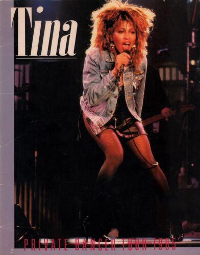 TINA TURNER 1985 PRIVATE DANCER WORLD TOUR CONCERT PROGRAM BOOK BOOKLET VG 2 EX