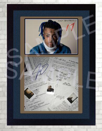 NEW! xxxtentacion Jahseh Onfroy Rap music Framed PRINT signed autograph POSTER