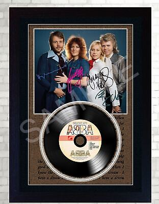 Abba MUSIC  SIGNED FRAMED PHOTO LP Vinyl  perfect gift #5