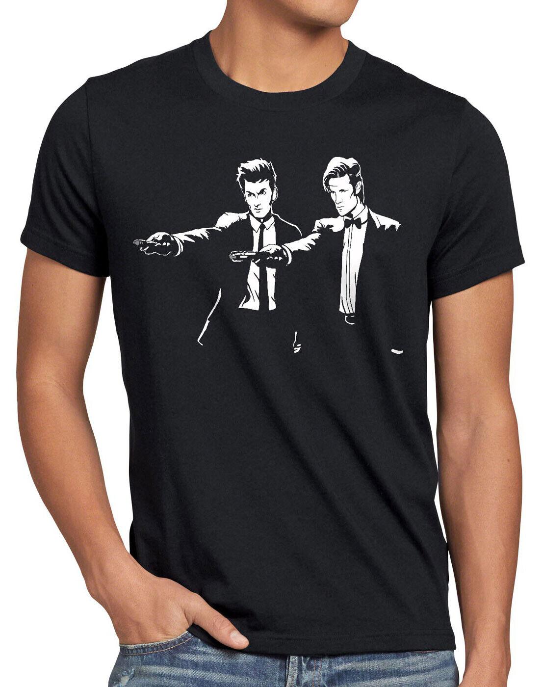 Who Time Fiction T-Shirt Herren dr. doktor doctor fiction pulp tarantino quentin
