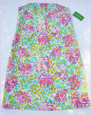 Classic White Lily - NWT LILY PULITZER Keetan Dress Printed CLASSIC WHITE LILET Strapless Size 10