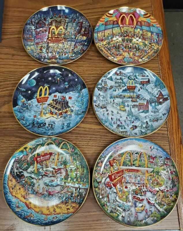 McDonalds Golden Series Franklin Mint Limited Edition Collectors Plates