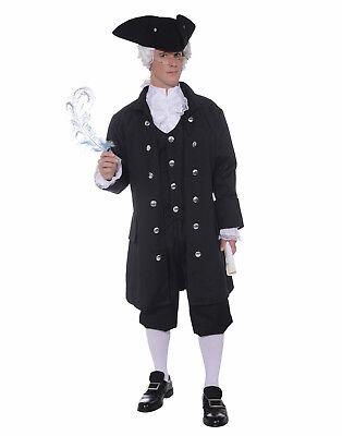 Founding Father Mens Adult Patriot Revolutionary Halloween Costume-Plus