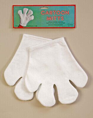 Super Mario Bros M And M Mittens Hands White Cartoon Gloves Felt Mitts - Super Mario Gloves