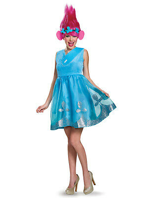 Womens Halloween Costumes With Wigs (Dreamworks Trolls Movie Poppy Adult Women Deluxe Halloween Costume With)