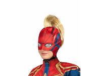 Marvel/'s Captain America Superhero Cosplay Latex Over The Head Mask OSFM Adults