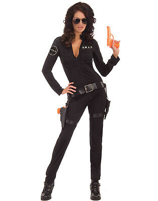 Sexy Woman Of Action S.W.A.T Team Fbi Womens Hens Party Halloween Costume - Swat Team Halloween Costume Women