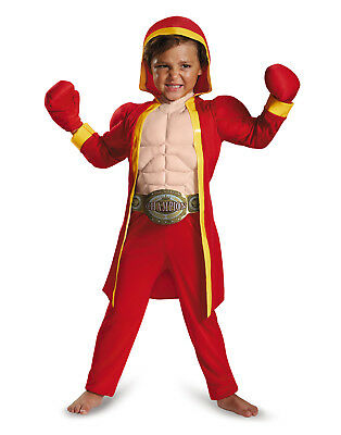Little Fighter Boys Boxer Muscle Halloween Costume