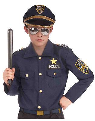 Instant Police Boys Child Cop Officer Halloween Costume Kit - Policeman Costume Kids
