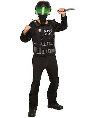 Navy Seal Boys Child Combat Military Soldier Halloween Costume (Navy Seal Costume)
