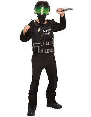 Militär-soldat Halloween-kostüm (Marineblau Seal Jungen Kind Kampf Militär Soldat Halloween Kostüm)