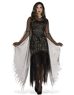 Evening Enchantress Adult Women Gothic Witch Halloween Costume-Std](Halloween Costumes Eve)